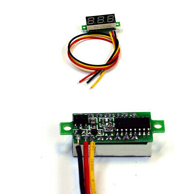 3 Wire Voltmeter DC0-100V Digital Voltage Meter With Reverse Polarity Protection
