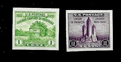 US 1935 Sc # 730a - Sc # 731a Century of Progress Imperf Farley Mint NH