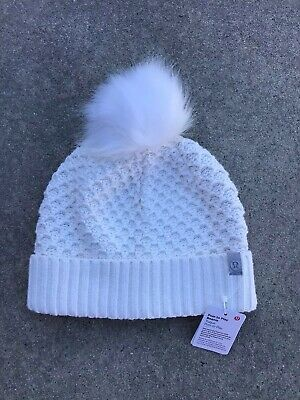 LULULEMON Pom to Play Beanie Women's One Size Color Angel Wing NEW w/Tags