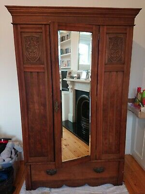 Vintage Mirrored Wardrobe