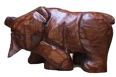 """6""""x 3.5"""" Hand Carved Light Wood Bear Holding A Salmon. Signed By Artist"""