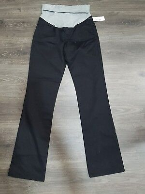 Thyme Black women maternity black jeans slim fit bootcut size S