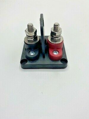 """Divided Base Red /& Black Power Post Block Insulated Terminal Stud 1//4/"""" Stainless"""