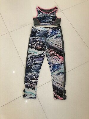 Girls Next Cropped Sports Top Age 7-8, Matching Leggings Age 9 Years