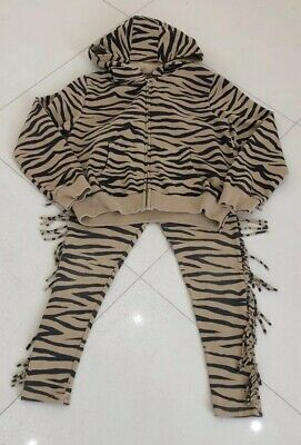 Girls Next Tiger Print Tracksuit Style Outfit, Age 10 Years