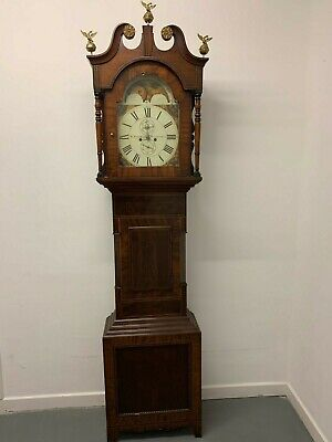 A Magnificent Figured Mahogany 8 day Longcase Clock Circa 1780 -We Can Deliver!!