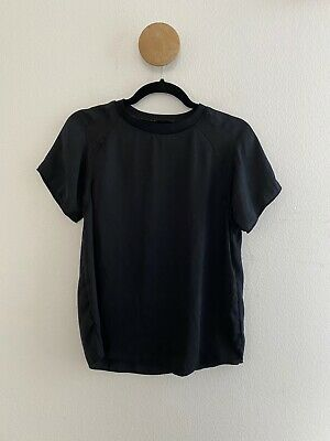 Zara Womens WB Collection Black Sheer Panel Top Size Small