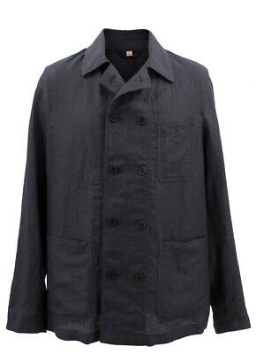 Burberry Linen Double-breasted Artist Jacket Charcoal Jacket/Blazer 38, 40 & 42R