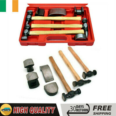 Vehicle Dent Body Panel Repair Car Fender Beating Tool Kit Hammer Anvil Glove