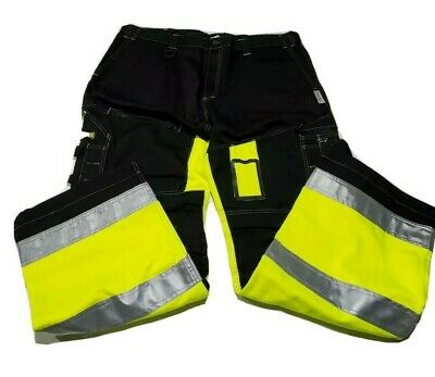 "OCCUNOMIX Speed Collection SP-CJN 42"" Pants Class E Black Work w/ Hi-Vis Yellow"