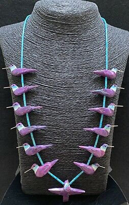 Hand Carved Turquoise Hummingbird Fetish Necklace by Matt Mitchell!