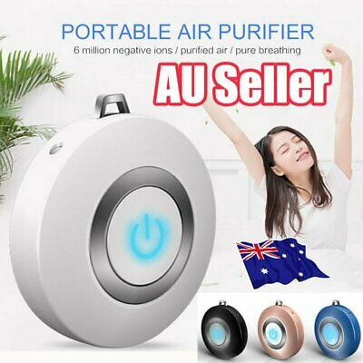Air Purifier Necklace/Portable Ionizer/Ion Generator/Odor And Smoke Removers VW