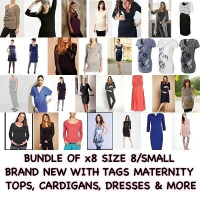 Uk Size 8, Small, X8 Items - Bnwt Maternity Bundle Clothes Tops, Dresses & More