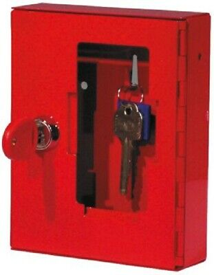 Securikey EMERGENCY KEY CABINET 153x123x40mm Wall Mounted, Glass Front RED