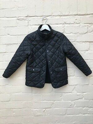 BLUEZOO BOYS BLACK QUILTED JACKET AGE 9-10 yrs