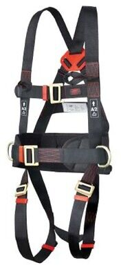 JSP FRONT, REAR, SIDES ATTACHMENT SAFETY HARNESS Parachute Buckle, With Belt