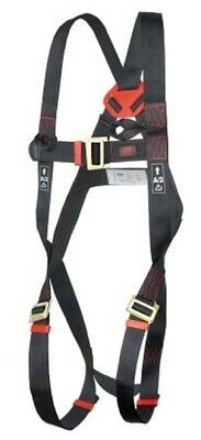JSP FRONT, REAR ATTACHMENT SAFETY HARNESS Polyester Webbing, Parachute Buckle