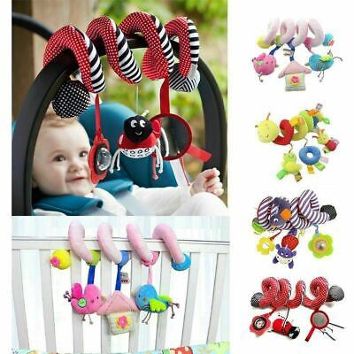 Newborn Infant Baby Pram Bed Cot Crib Stroller Soft Hanging Toy Animal Spiral