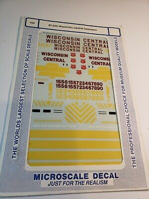 Use with 87-534 Microscale HO #87-533 Wisconsin Central Diesels 1987+
