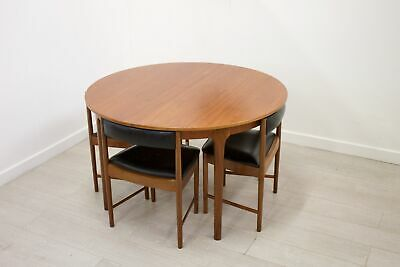 DELIVERY £70 Mid Century McIntosh Teak Round Dining Table 4 Dining Chairs