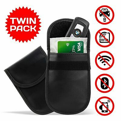 2 X Car Key Rfid Signal Blocker Blocking Bag Faraday Cage Keyless Fob Pouch Case