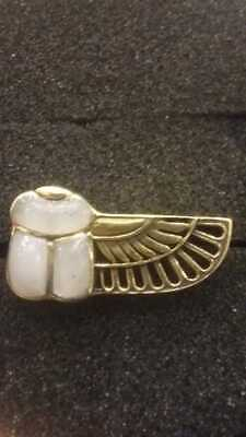ancient egyptian winged scarab handemade copper ring
