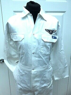 """100% Cotton Goodwood Revival Retro Bentley Boys Badged Overalls 48 - 50"""" Chest"""