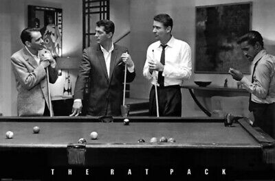 "The Rat Pack 23.5x36"" Poster Ocean's 11 Pool Billiards Frank Sinatra Dean Martin"