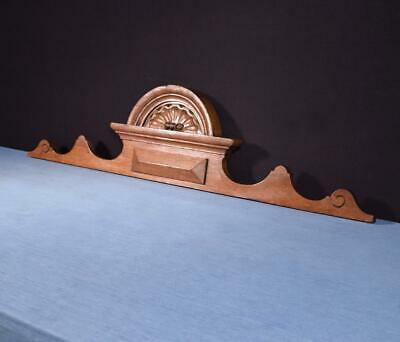 """*41"""" French Antique Pediment/Crest in Solid Oak Wood Salvage"""