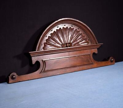 """*28"""" French Antique Pediment/Crest in Sold Wood Salvage"""