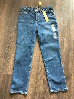NWT Lee Jeans Petite Relaxed Fit Straight Leg Jean Nomad PETITE Sz 4SP 18P SHORT
