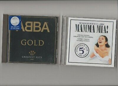 Abba : Gold Greatest Hits +  Mamma Mia The Soundtrack / TWO CD Albums