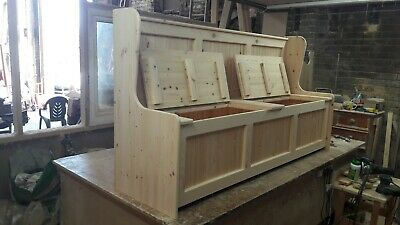 6ft Wide Monks bench Church Pew With Storage