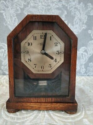 Antique FRENCH BULLE CLOCK Electricmagnetic Mantel Mantle