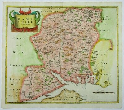 Antique map of Hampshire by Robert Morden 1722
