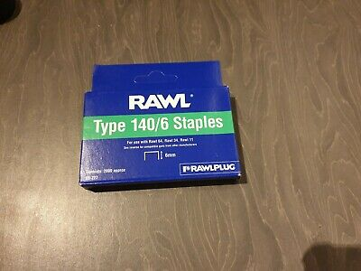 Rawl type 140/6  6mm galvanised staples (2000 per box)