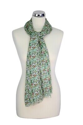 Womens Peony London Blue Apple Design Scarf 100% Modal Washable Mothers Day Gift