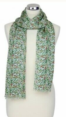 Womens Peony London Green Apple Design Scarf 100% Modal Washable Mothers  Gift