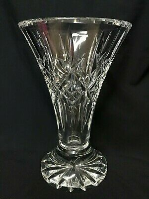 """Waterford Lead Crystal Lismore Vase Ireland. Size 8"""" tall."""