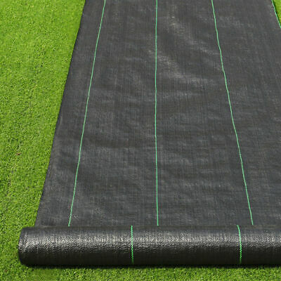 1/2/3/4m Heavy Duty 100gsm Weed Control Ground Cover Driveway Membrane Fabric UK