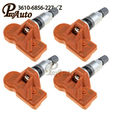 DirectFit Set 4 TPMS Sensor Kits for BMW OEM# 36106856227 433 Mhz FM
