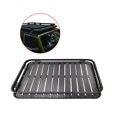 ROKIOTOEX Aluminum Cargo Basket Luggage Roof Rack For 2007-2016 Jeep Wrangler