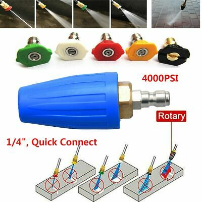 """Pressure Washer Rotating Spray Turbo Nozzle 3600/4000 PSI 1/4"""" Quick Connect USA"""