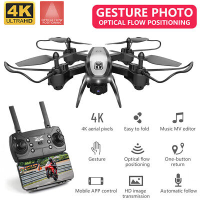 KY909 Foldable Camera Drone 4K 1080P HD WiFi FPV Wide Angle Flow RC Quadcopter