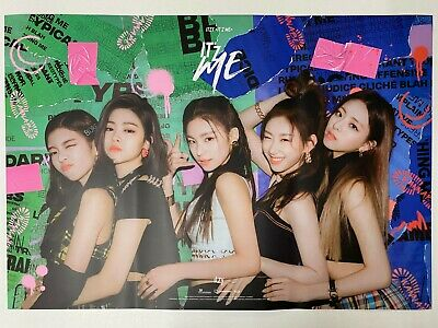 Itzy - It'z Me (2nd Mini Album) Unfolded Official Poster Hard Tube Case