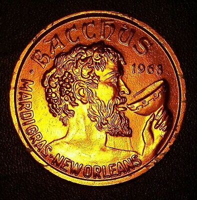 Mardi Gras Doubloon Bacchus 1976 New Orleans 'The Spirit of 76'