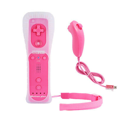 Built in Motion Plus Remote Controller +Nunchuck +Case for Nintendo Wii&Wii U US