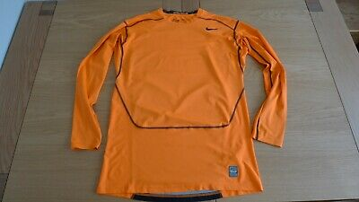 Nike Pro Combat Dri-Fit Compression men's orange long sleeve sweatshirt size XXL
