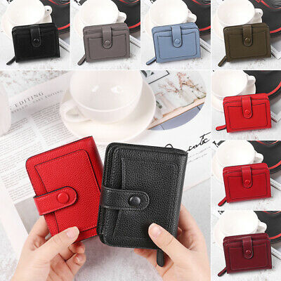Leather Two Fold Hasp Zipper Short Wallet Small Wallets Card Holder Coin Purse