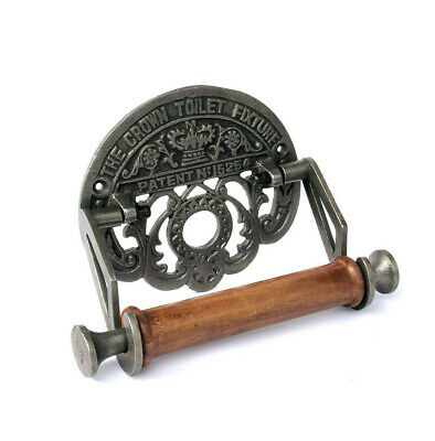 Cast Iron Toilet Roll Holder Novelty Vintage Retro  The Crown Toilet Fixture